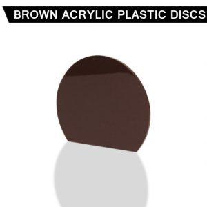 Brown Acrylic Disc
