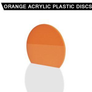 Orange Acrylic Disc