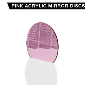 Pink Acrylic Mirror Disc