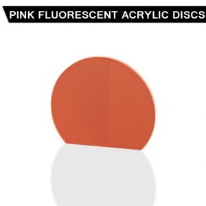 Pink Fluorescent Acrylic Disc