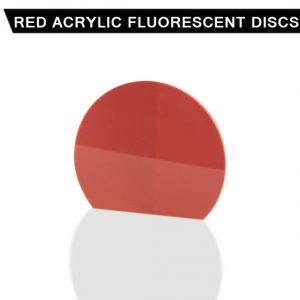 Red Acrylic Fluorescent Disc